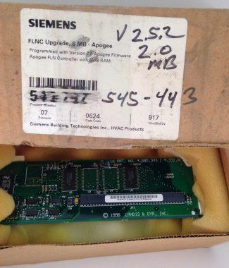 Siemens 545-443 FLN Controller Upgrade