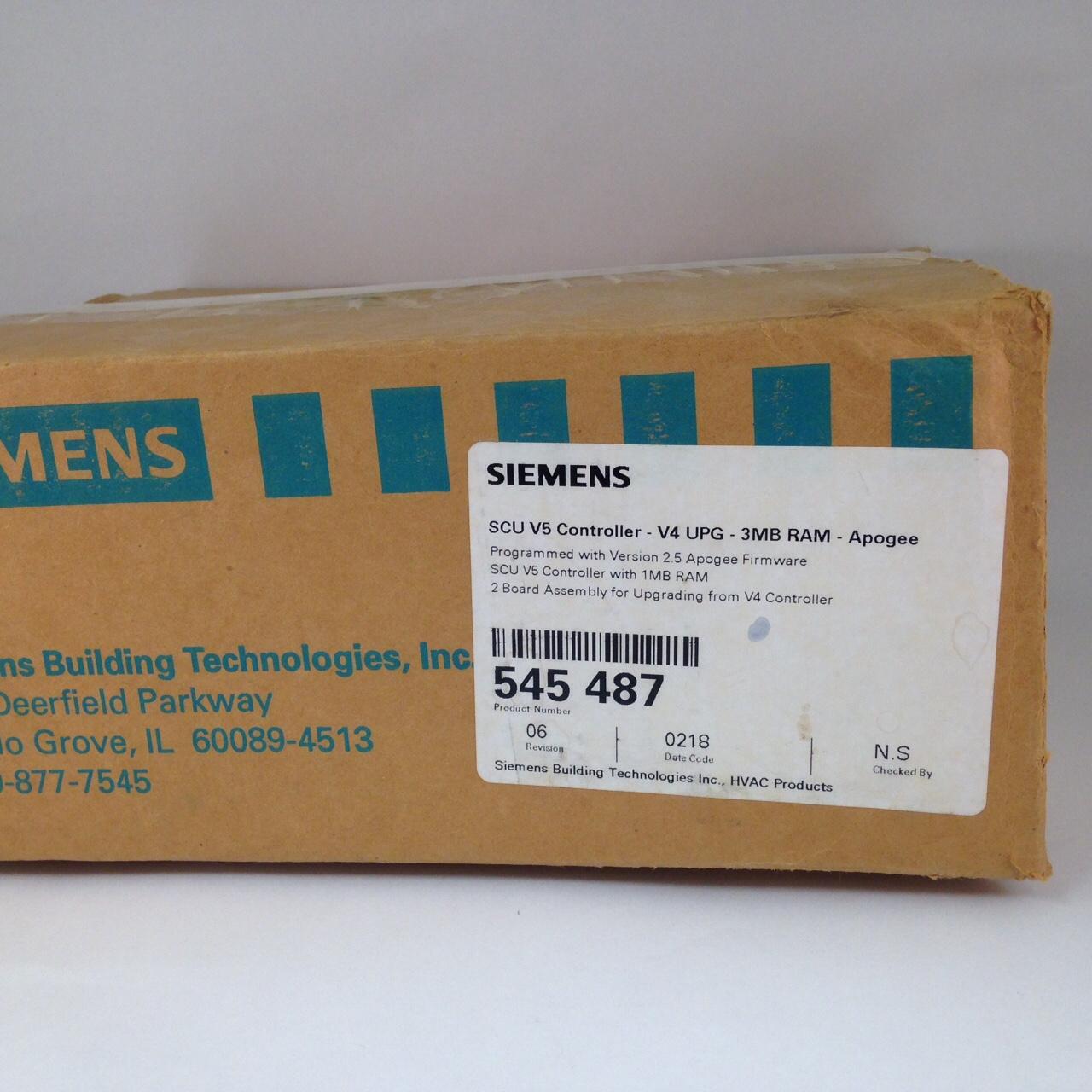 Siemens 545-487 SCU Version 4 Upgrade