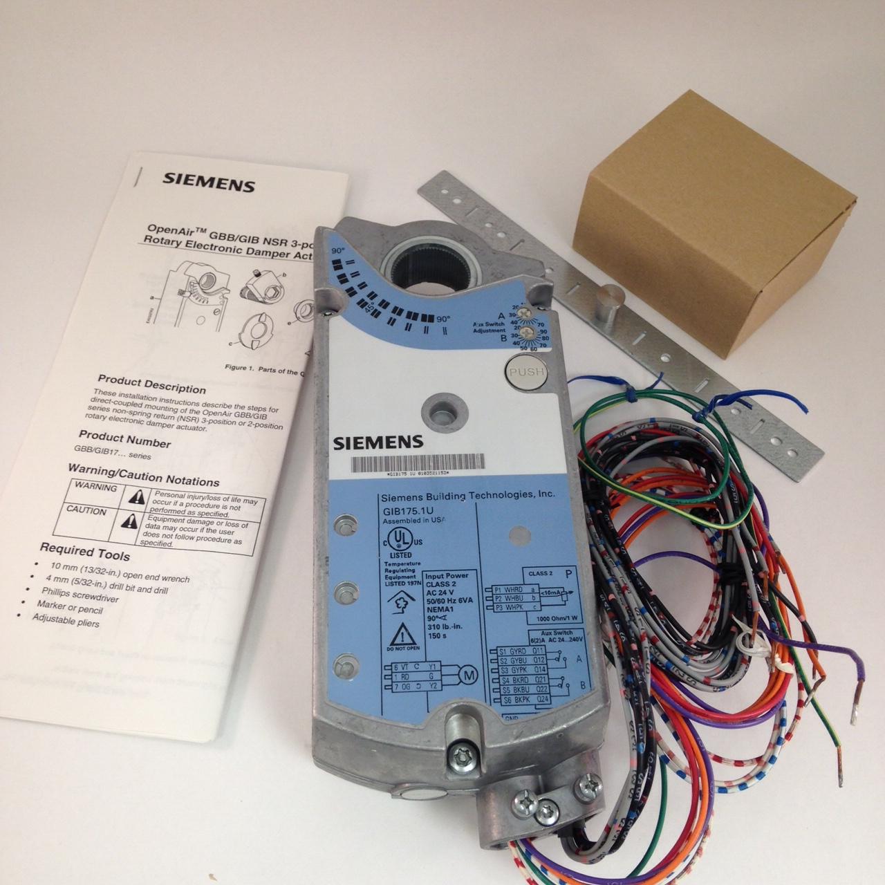 Siemens Landis and Gyr GIB175.1U OpenAir Actuator, new.