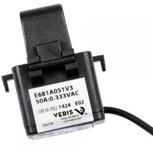 Veris E681A051V3 CT,SplitCore,50A:0.333VAC,0.39inID,6Ft