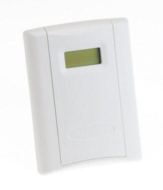 Veris Industries CWLSXTNX3A CO2,Wall,LCD,Temp,1k8 Ohm,1k St Pt,w/PB