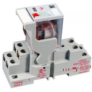 Veris FKIT-VMD2B-F12D DPDT -F w/-F Socket,12VDC