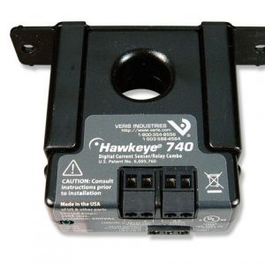 Veris Industries H740 Current Switch/Relay Combo,Solid Core,SPDT
