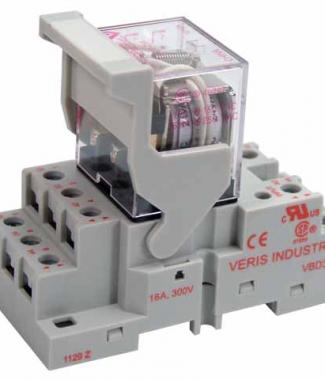Veris FKIT-VMD3B-C24A 3PDT - C w/- F Socket,24VAC