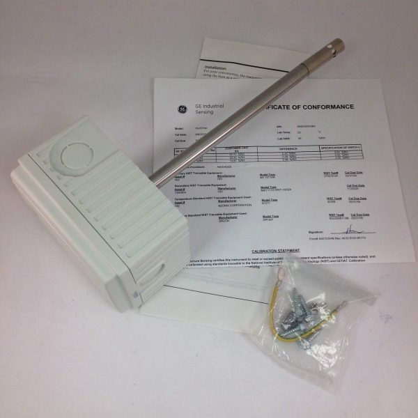 GE HumiTrac P40250151, Duct mount, 2%RH with NIST calibration certificate, -40-140F