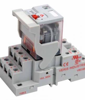 Veris FKIT-VMD3B-F24A 3PDT - F w/- F  Socket,24VAC