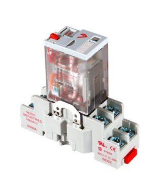 Veris CKIT-VMD2B-F12D DPDT -F w/-C Socket,12VDC