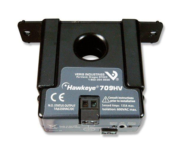 Veris Industries H709HV Current Switch,Solid,Adj,NO,250V