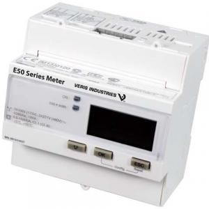 Veris E53B3C Energy Mtr,DIN,MID,1A/5A,Pulse Only