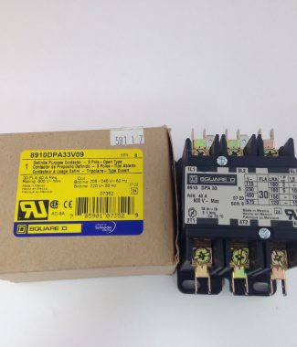 Square D 8910DPA33V09 Definite Purpose Contactor