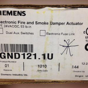 Siemens GND121.1U Fire and Smoke Damper Actuator
