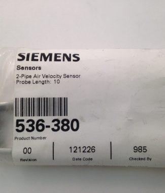 Siemens 2 Pipe Air Velocity Sensor, Probe length 10