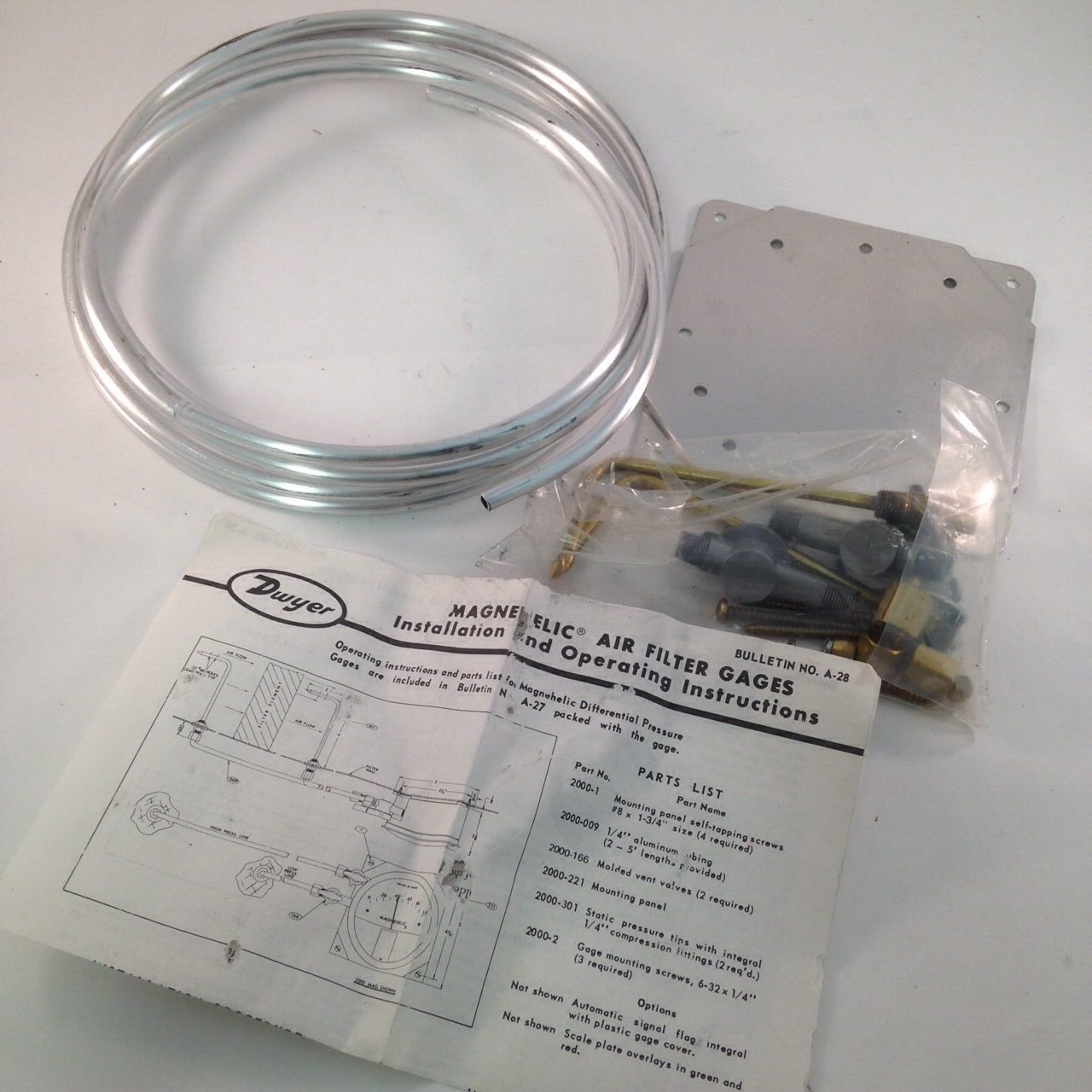 Dwyer Air Filter Accessory Package