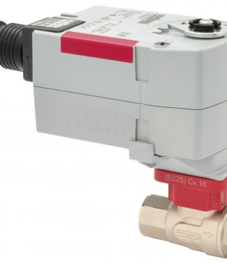 "Siral B218+V-FBV24M Ball Valve, S.S., 2-way, 1/2"", Fail Safe, 24V, Modulating"