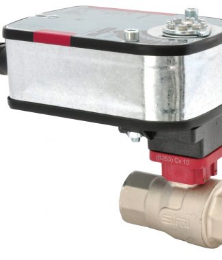 "Siral B277+V-FDV24M Ball Valve, S.S., 2-way, 1.50"", Fail Safe, 24V, Modulating"