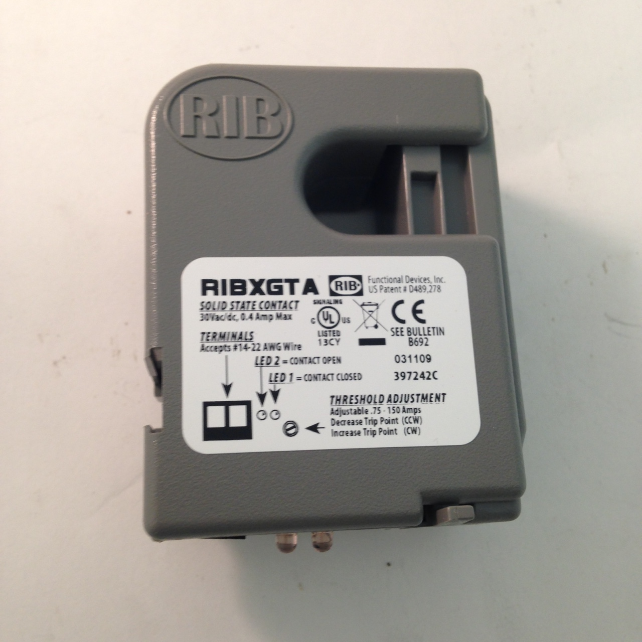 Functional Devices RIBXGTA, new, Split core current sensor
