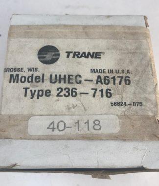Trane 40-118, Model UHEC-A6176 Type 236-716