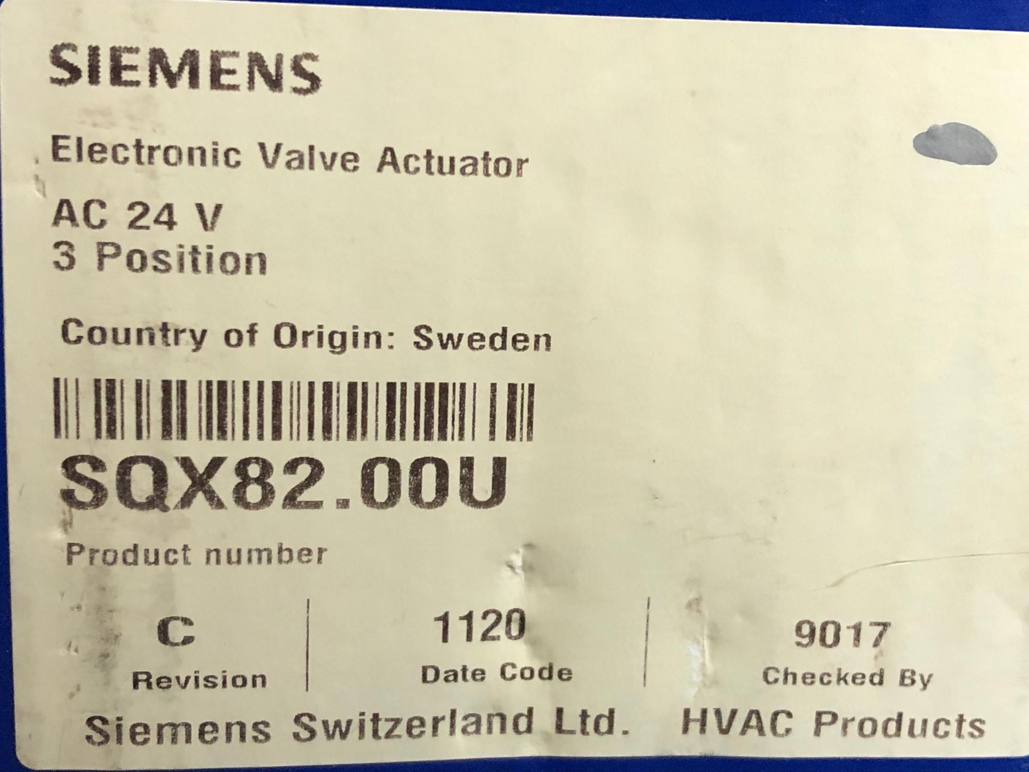 Siemens SQX82.00U